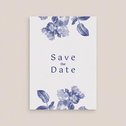 Save-the-date mariage Rhapsody, fleurs Bleues gratuit