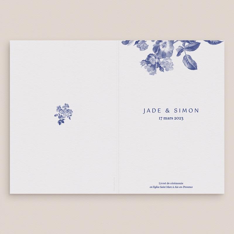 Livret de messe mariage Rhapsody, fleurs Bleues gratuit