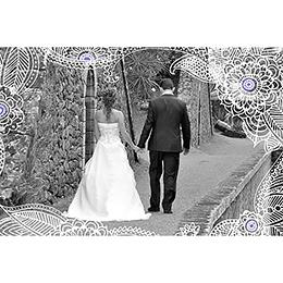 Carte anniversaire de mariage Flora améthyste  gratuit