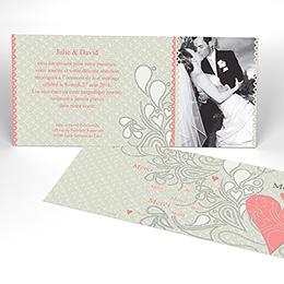 Carte de remerciement mariage Arabesque