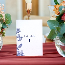 Marque table mariage Rhapsody, 3 repères gratuit