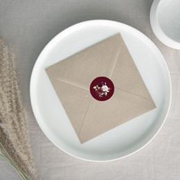 Etiquette enveloppes mariage Rubis chic