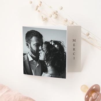 Carte de remerciement mariage Empreinte Cerisier, volets asymétriques