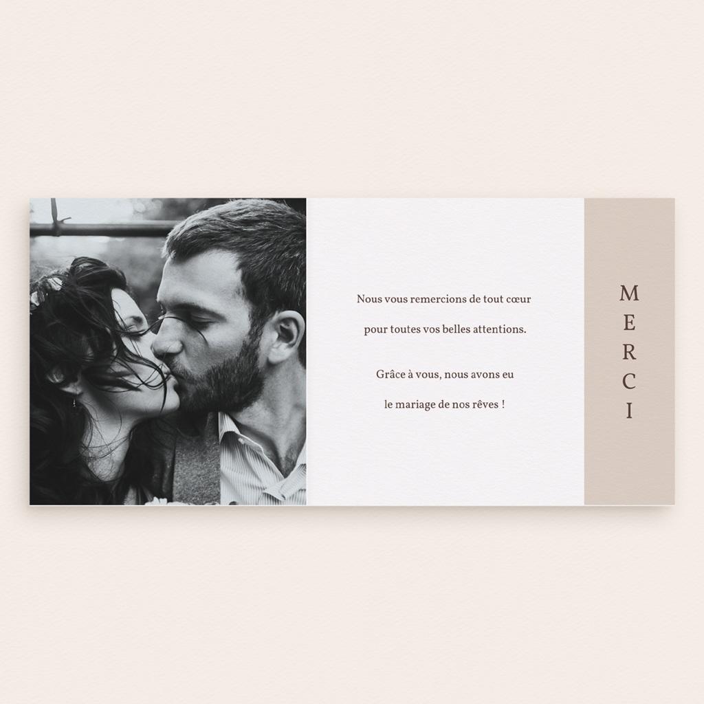 Carte de remerciement mariage Empreinte Cerisier, volets asymétriques pas cher