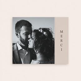 Carte de remerciement mariage Empreinte Cerisier, volets asymétriques gratuit