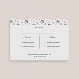 Carton réponse mariage Liberty Gris bleu, Rsvp gratuit