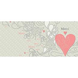 Carte de remerciement mariage Arabesque  gratuit