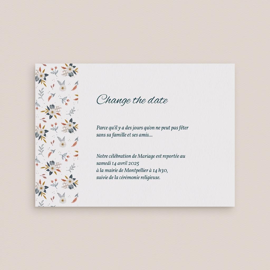 Change the date mariage Liberty Gris bleu, Date reportée gratuit