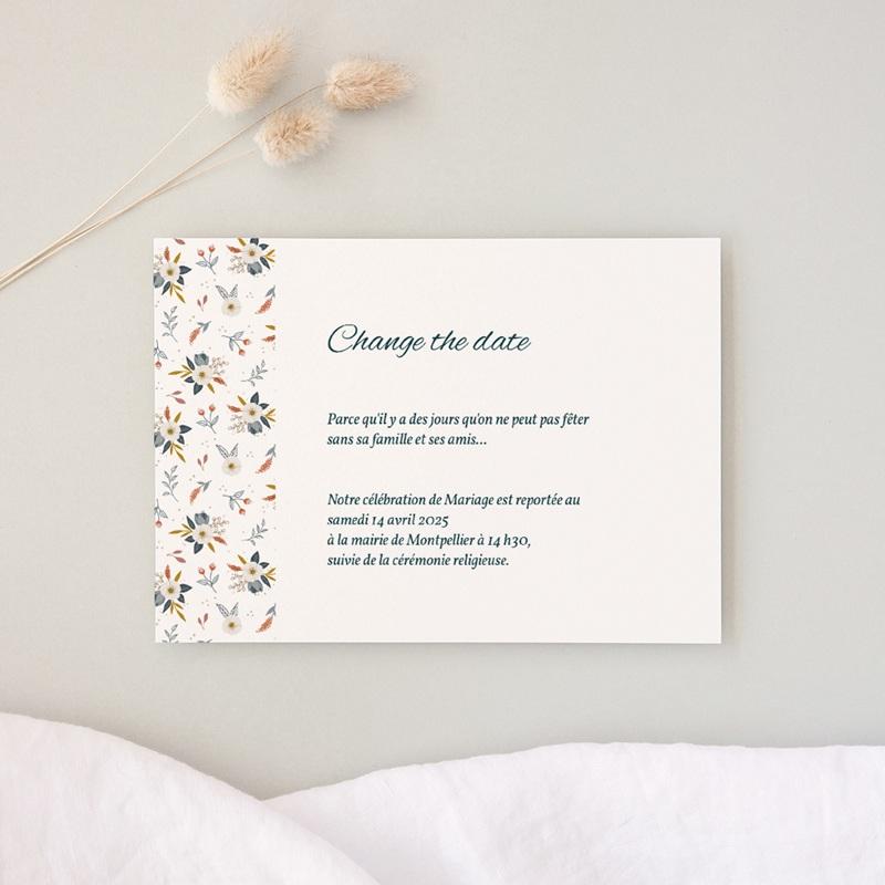 Change the date mariage Liberty Gris bleu, Date reportée