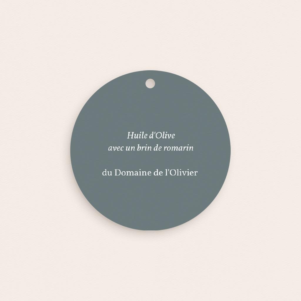 Etiquettes cadeaux mariage Liberty Gris bleu, ronde perforée pas cher