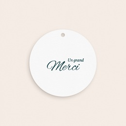 Etiquettes cadeaux mariage Liberty Gris bleu, ronde perforée gratuit