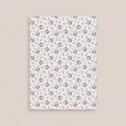 Carte d'invitation mariage Liberty Gris bleu, réception & brunch pas cher