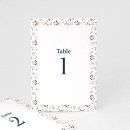 Marque table mariage Liberty Gris bleu, Lot de 3