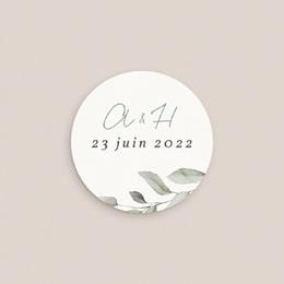 Etiquette enveloppes mariage Pastel de Fleurs & Feuillage, 4,5 cm pas cher