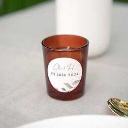 Etiquette enveloppes mariage Pastel de Fleurs & Feuillage, 4,5 cm gratuit