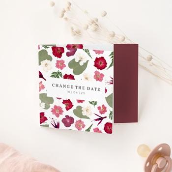 Change the date mariage Romance Florale, pli asymétrique
