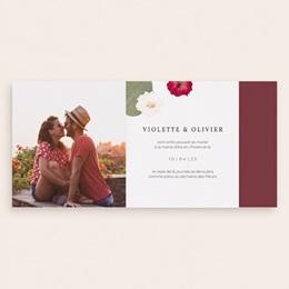 Change the date mariage Romance Florale, pli asymétrique pas cher