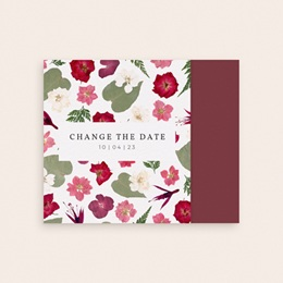 Change the date mariage Romance Florale, pli asymétrique gratuit