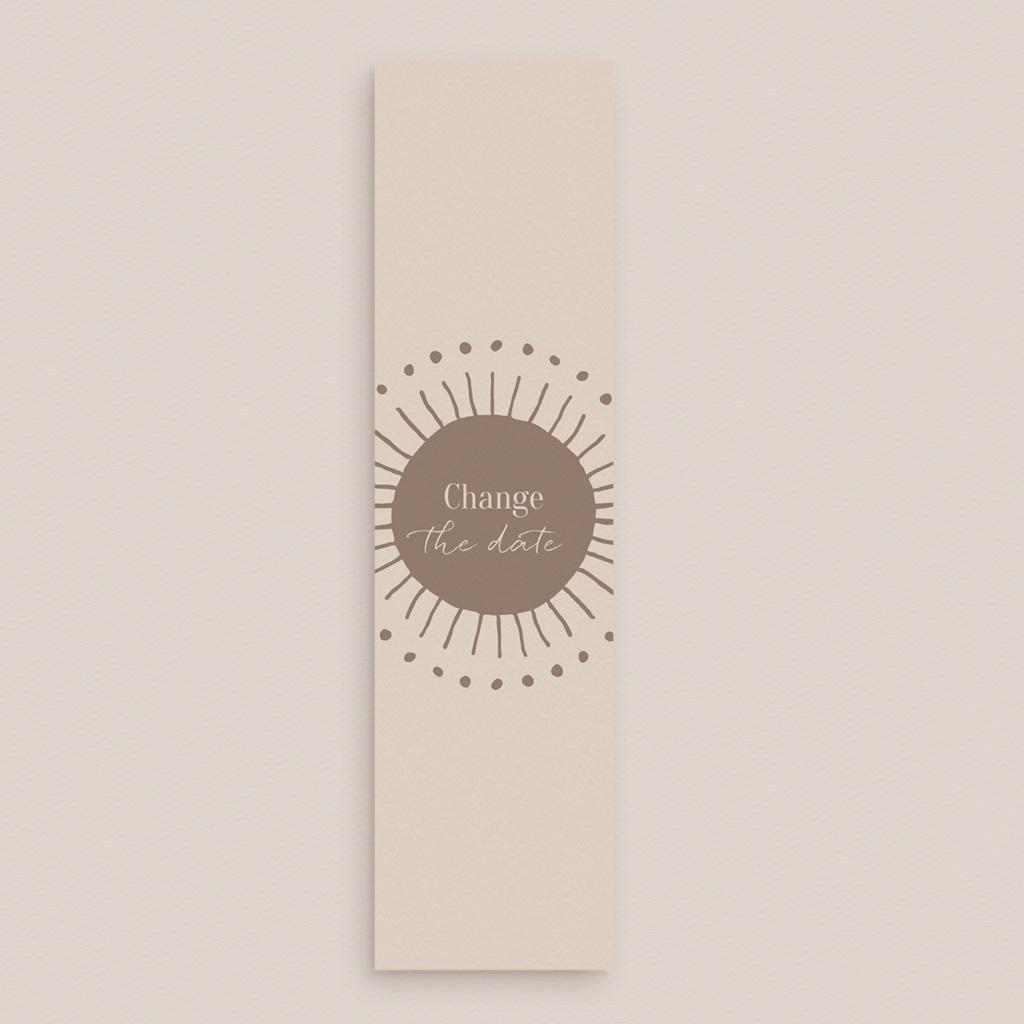 Change the date mariage Soleil de Minuit, marque-page 5,5 x 21 cm gratuit