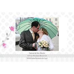 Carte de remerciement mariage Birdy  gratuit