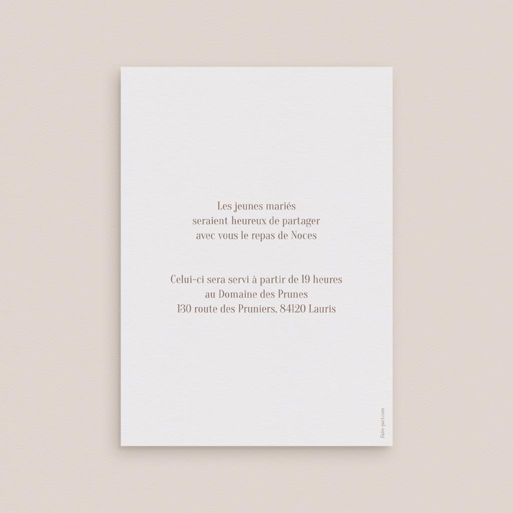 Carte d'invitation mariage Soleil de Minuit, réception pas cher