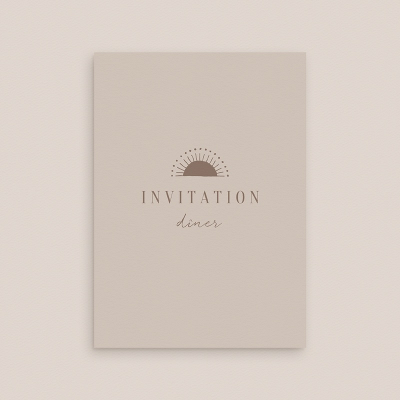 Carte d'invitation mariage Soleil de Minuit, réception gratuit