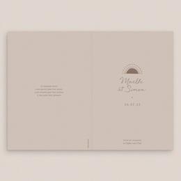 Livret de messe mariage Soleil de Minuit, Couverture gratuit