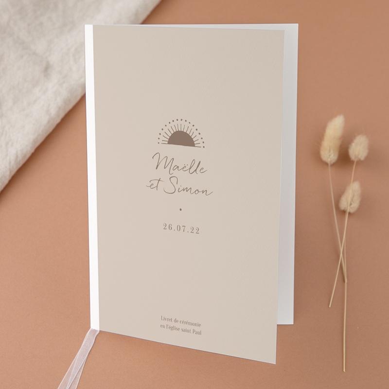 Livret de messe mariage Soleil de Minuit, Couverture