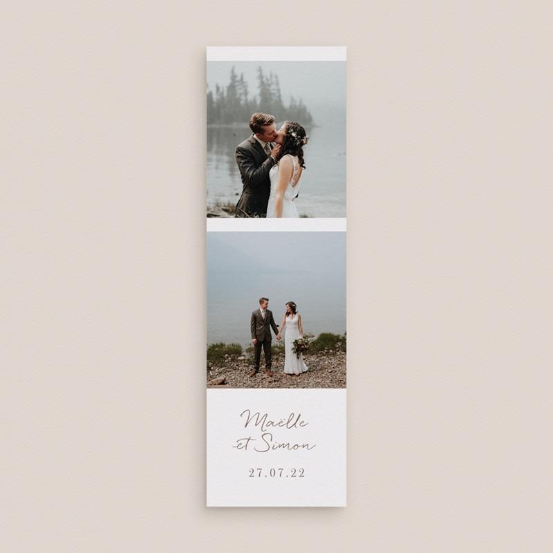 Carte de remerciement mariage Soleil de minuit, 2 en 1 gratuit