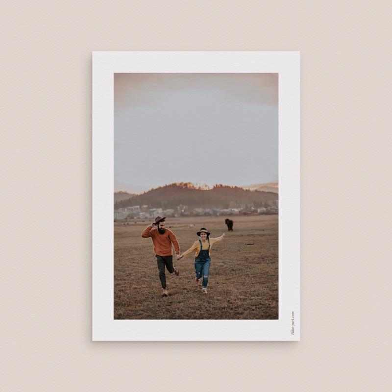 Save-the-date mariage Soleil de Minuit,  Jour J 10 x 14 cm pas cher