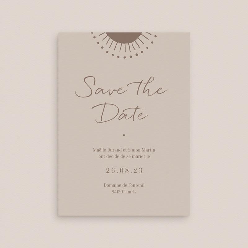 Save-the-date mariage Soleil de Minuit,  Jour J 10 x 14 cm gratuit