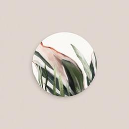 Etiquette enveloppes mariage Symétrie Végétale, Sticker correspondance pas cher