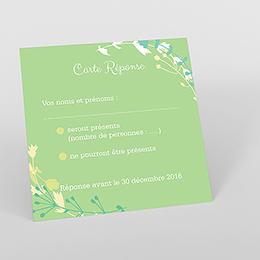 Carton réponse mariage Tourbillon de printemps