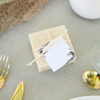 Etiquettes cadeaux mariage Symétrie Végétale, Invité placé, 4,5 cm