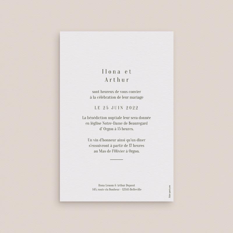 Faire-part de mariage Symétrie Végétale, 10 x 15 cm pas cher