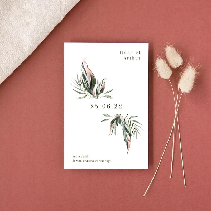 Faire-part de mariage Symétrie Végétale, 10 x 15 cm gratuit