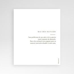 Carton réponse mariage Symétrie Végétale, Brunch, 10 x 12 pas cher