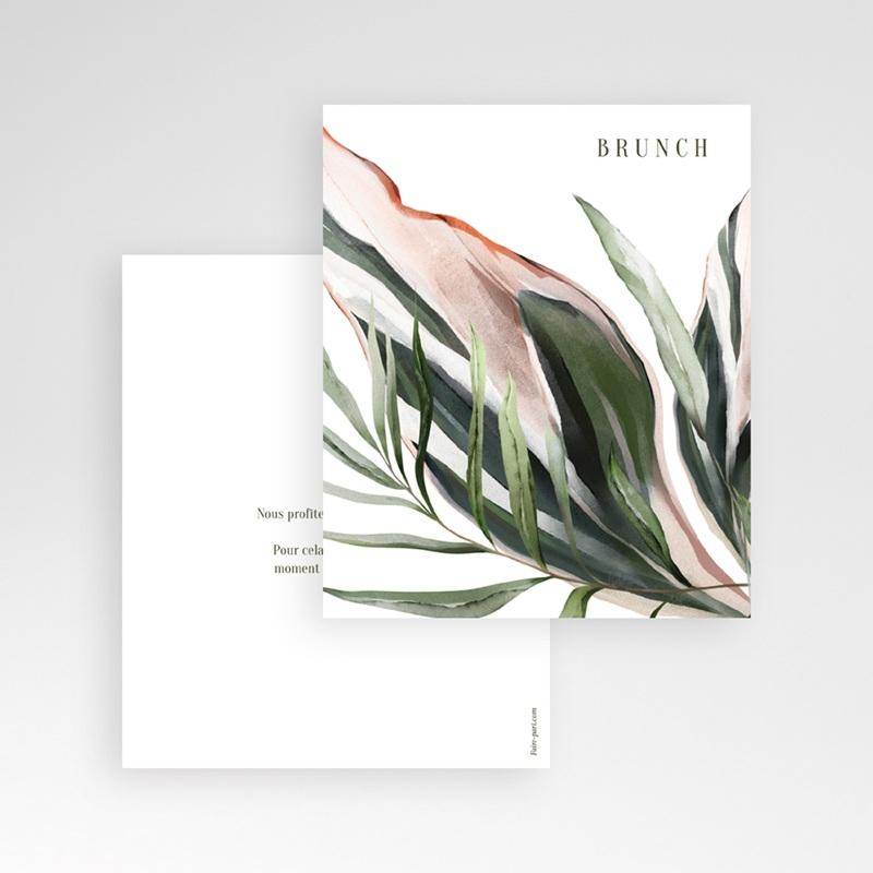 Carton réponse mariage Symétrie Végétale, Brunch, 10 x 12 gratuit