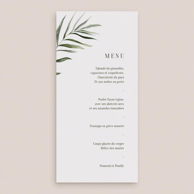 Menu mariage Symétrie Végétale, 10 x 21 cm gratuit