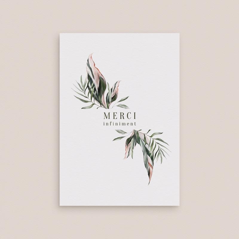 Carte de remerciement mariage Symétrie Végétale, 2 Volets, 10,5 x 15 cm gratuit