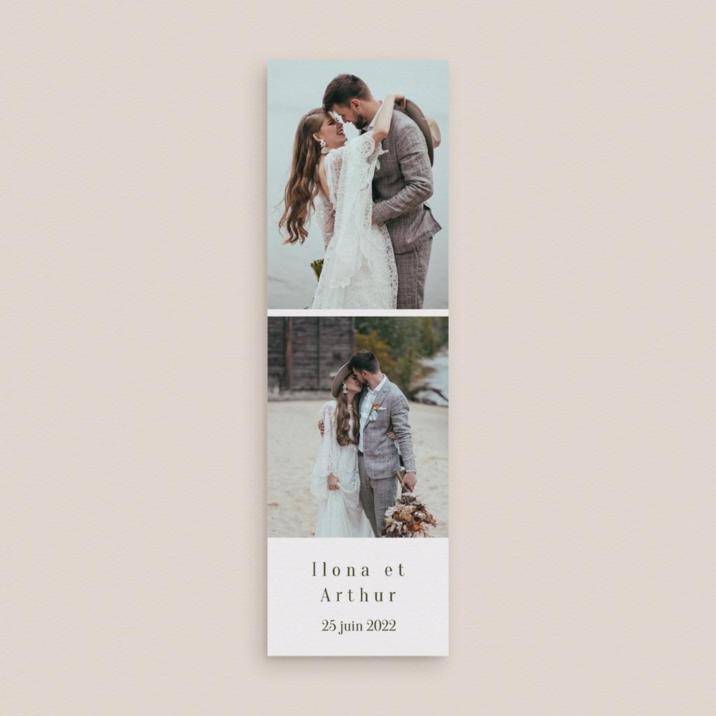 Carte de remerciement mariage Symétrie Végétale, 2 en 1 & photo gratuit