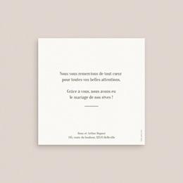 Carte de remerciement mariage Symétrie Végétale, Photo, 10 x 10 cm pas cher