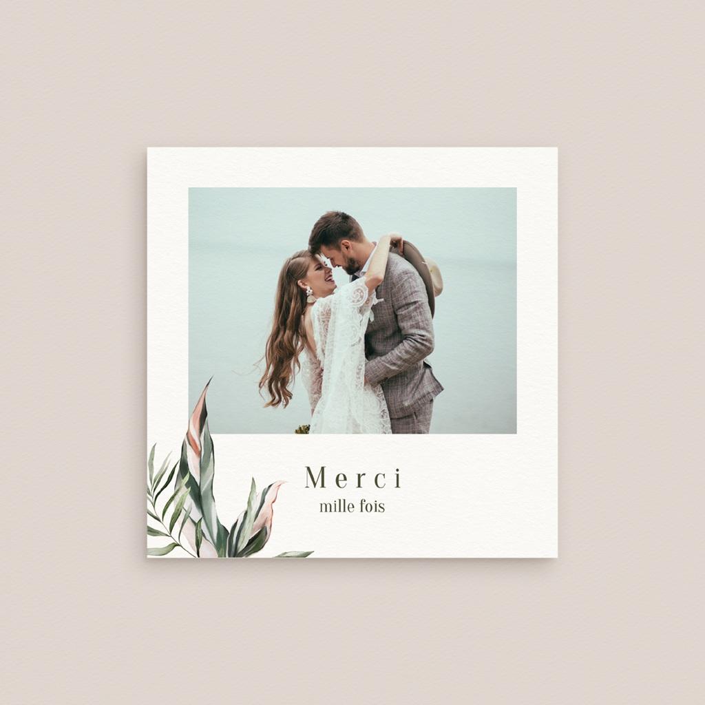 Carte de remerciement mariage Symétrie Végétale, Photo, 10 x 10 cm gratuit