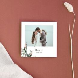 Carte de remerciement mariage Symétrie Végétale, Photo, 10 x 10 cm