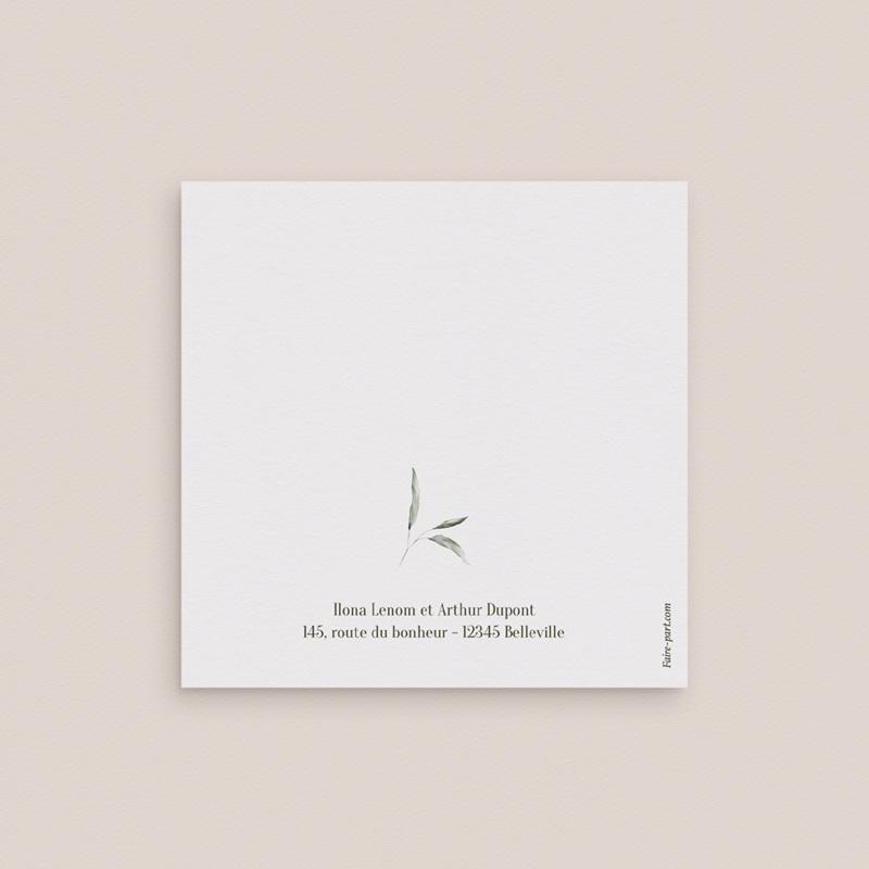 Save-the-date mariage Symétrie Végétale, 2 volets, 9,5 x 9,5 cm gratuit