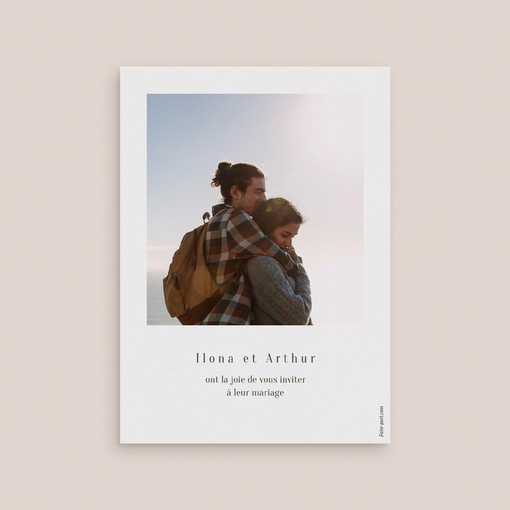Save-the-date mariage Symétrie Végétale, Jour J, 10 x 14 cm pas cher