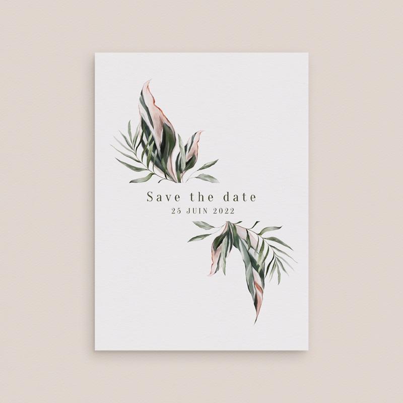 Save-the-date mariage Symétrie Végétale, Jour J, 10 x 14 cm gratuit