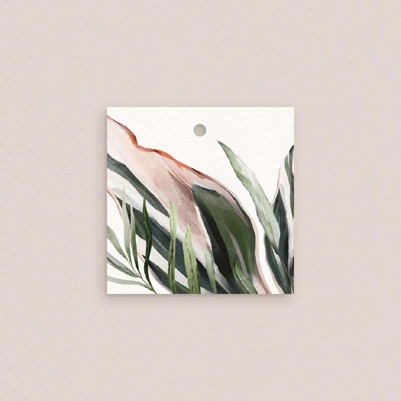 Etiquettes cadeaux mariage Symétrie Végétale, 4,5 x 4,5 cm gratuit