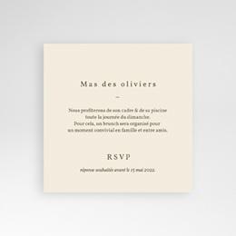 Carte invitation Brunch Rameau bohème, Brunch pas cher
