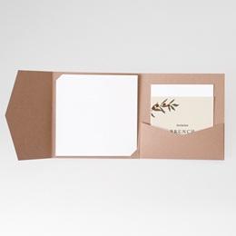 Carte invitation Brunch Rameau bohème, Brunch
